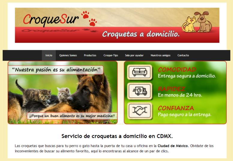 web ejemplo croquesur alimento para perros y gatos