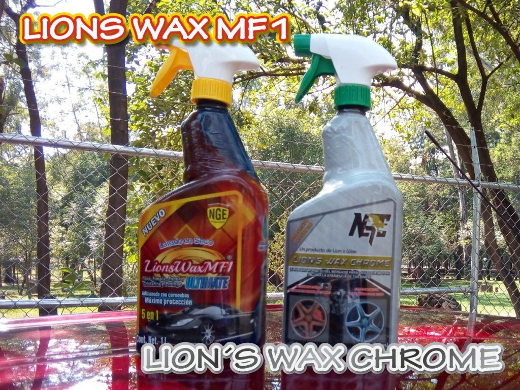 Lions Wax MF1 ULTIMATE Lavado en seco y encerado. Lions Wax Chrome limpiador de rines y motor. Limpieza profesional calidad internacional