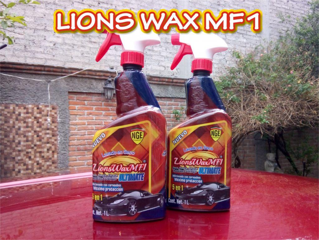 Lions Wax MF1 ULTIMATE Lavado en seco y encerado. . Limpieza profesional calidad internacional
